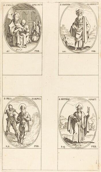 St. Felix; St. Joseph of Arimathea; St. Polycarpe; St. Matthias, Apostle
