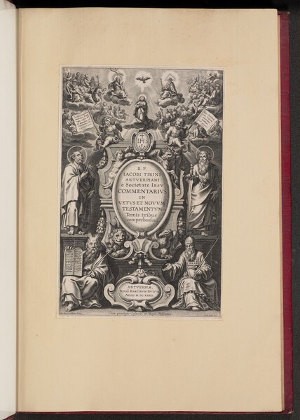 Title Page for R.P. Jacobi Tirini