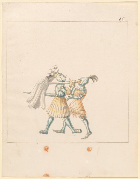 Freydal, The Book of Jousts and Tournament of Emperor Maximilian I: Combats on Foot (Jousts)(Volume III): Plate 165