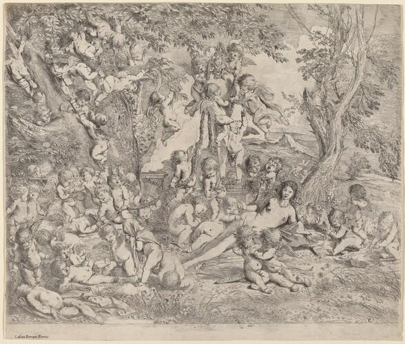Venus in a Garden with Cupids