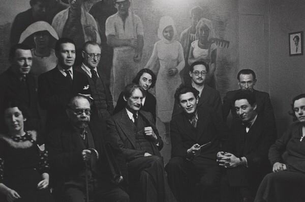 Henri Barbusse and Left-wing Intellectuals at his Monde Office, Paris