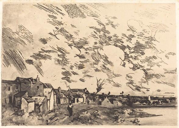 Village sur le bord d