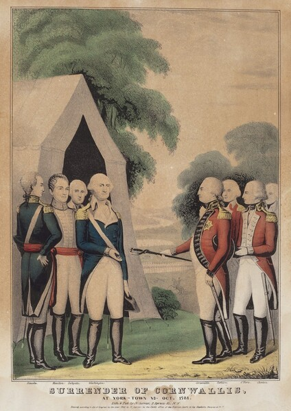 Surrender of Cornwallis: At York-Town Va. Oct. 1781