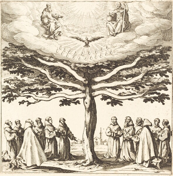 The Holy Trinity in the Tree of Life, Adored by Franciscans