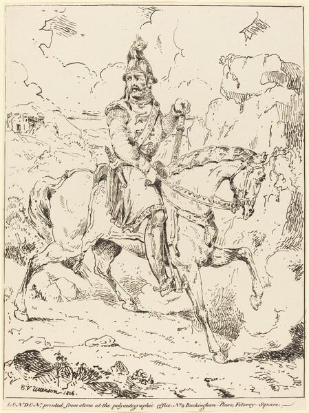 Knight in Armor on Horseback