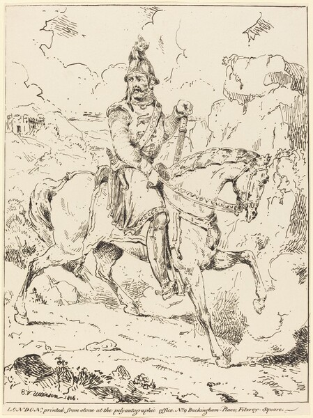 Knight in Armor on Horseback