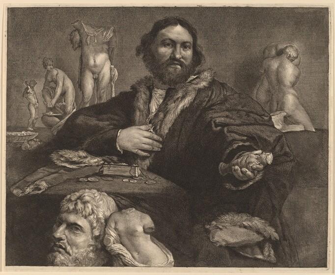 Cornelis Visscher, Lorenzo Lotto, Andrea Odoni, c. 1660c. 1660