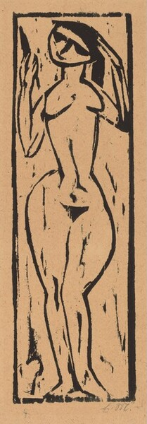 Standing Nude Woman with a Hand Mirror