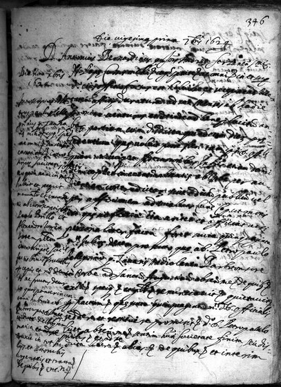 ASR, TNC, uff. 15, 1624, pt. 3, vol. 101, fol. 346r