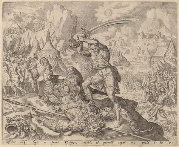 David Cutting Off Goliath