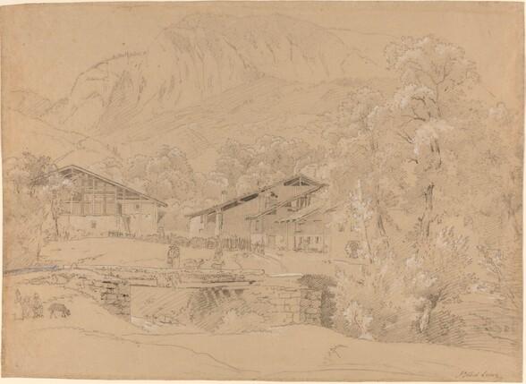 An Alpine Village in Summertime