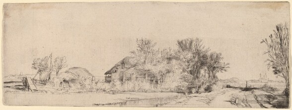 Landscape with a Road beside a Canal
