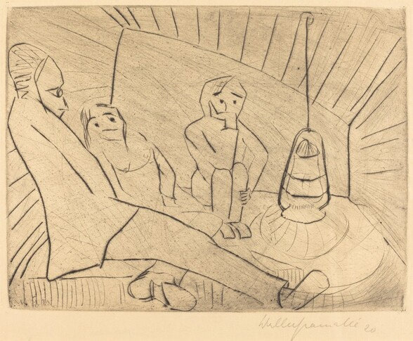 Three People in an Atelier