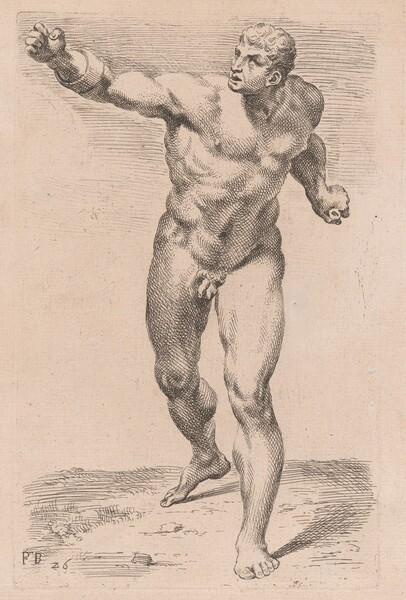 The Borghese Gladiator, front view [plate 26]