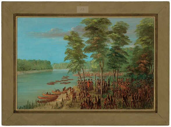 La Salle Taking Possession of the Land at the Mouth of the Arkansas.  March 10, 1682