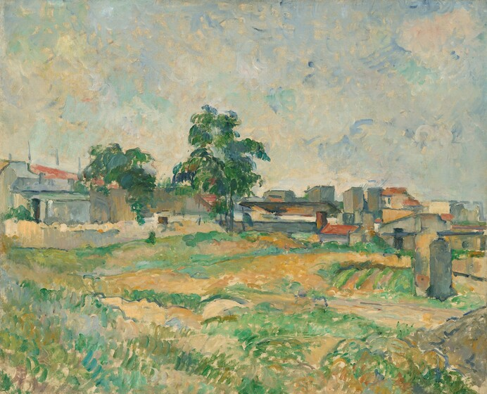 Paul Cézanne, Landscape near Paris, c. 1876