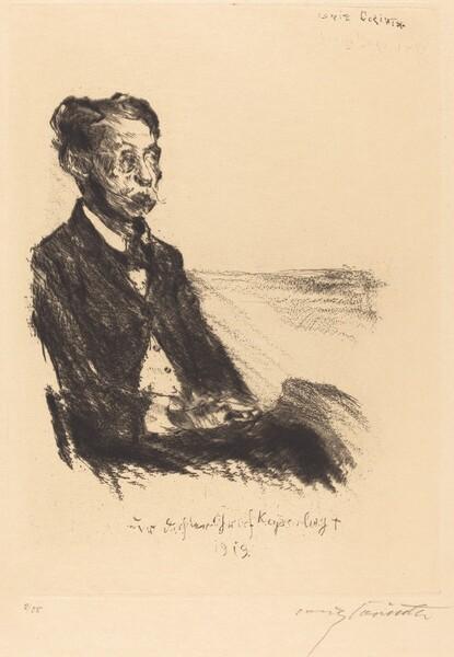 Bildnis des Grafen Keyserling (Portrait of Count Keyserling)