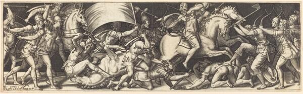 Battle of Horsemen and Foot Soldiers