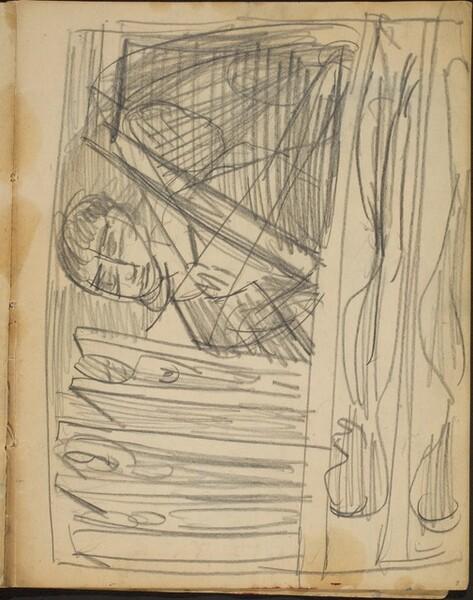 Kompositionsskizze (Sketch with Man) [p. 7]