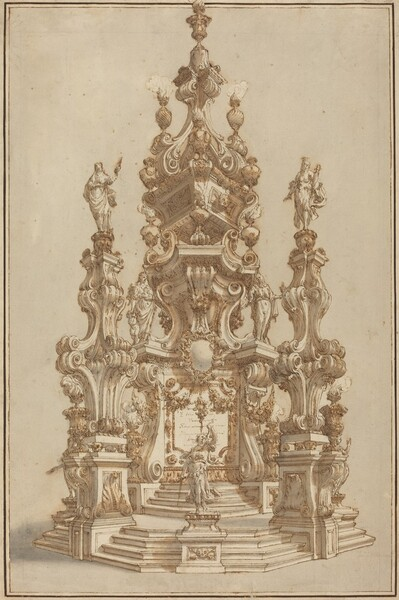 Magnificent Catafalque for a Deceased Noble