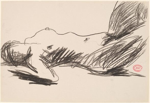 Untitled [side view of sleeping female nude]
