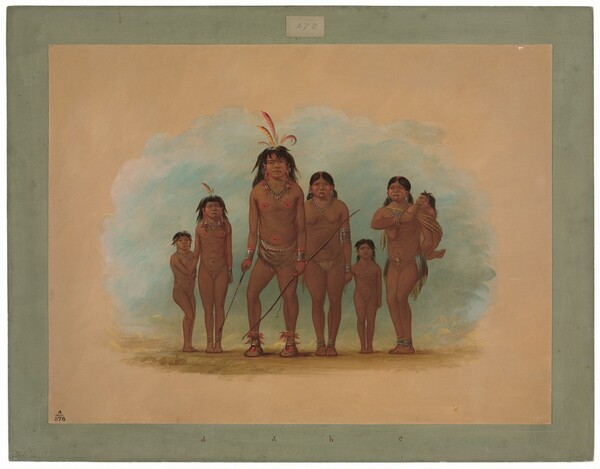 Lengua Chief, His Two Wives, and Four Children