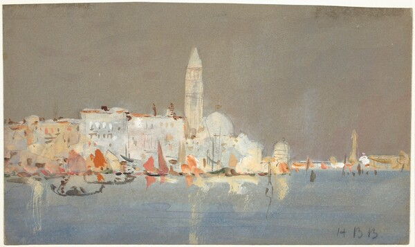 Venetian Capriccio with a Campanile