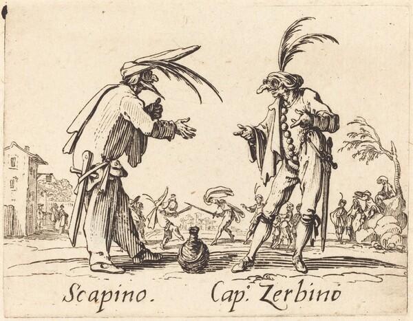 Scapino and Cap. Zerbino