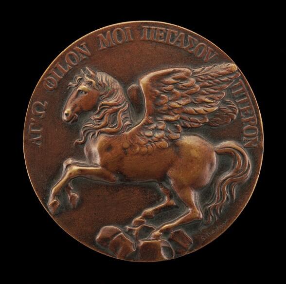 Pegasus Soaring above Parnassus [reverse]