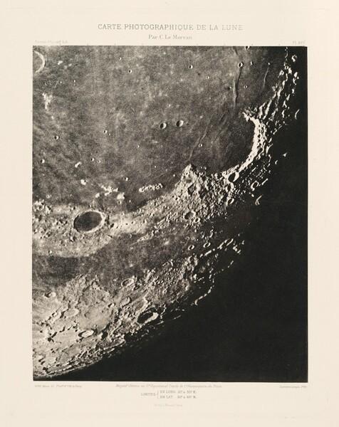 Carte photographique de la lune, planche XVII (Photographic Chart of the Moon, plate XVII)