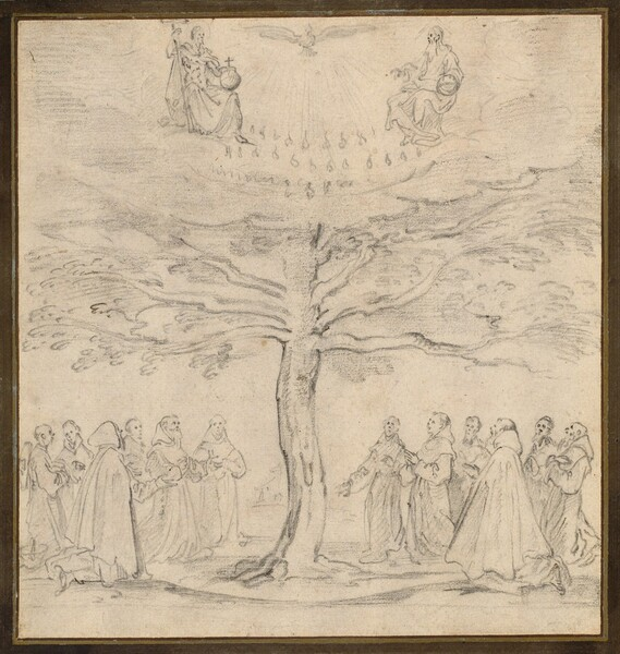 The Holy Trinity in the Tree of Life Adored by Franciscans