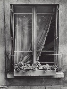 Ilse Bing, Self-Portrait in Window, 1947