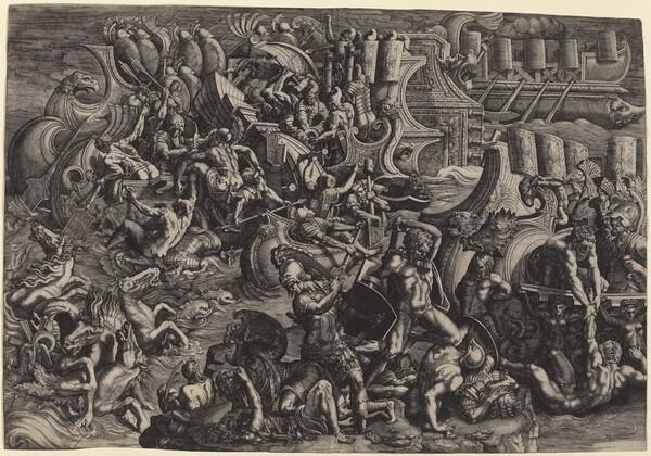 The Trojans Repulsing the Greeks