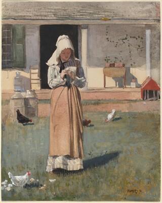 Winslow Homer, A Sick Chicken, 1874