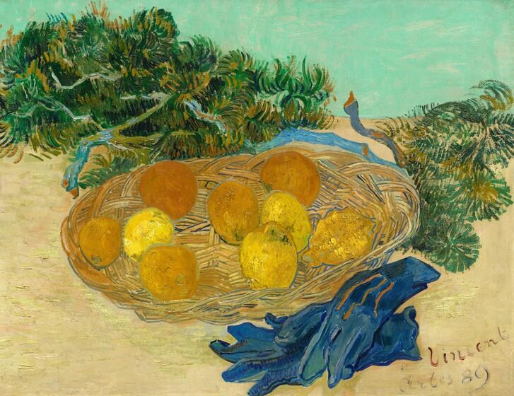 Vincent van Gogh, Still Life of Oranges and Lemons with Blue Gloves, 18891889