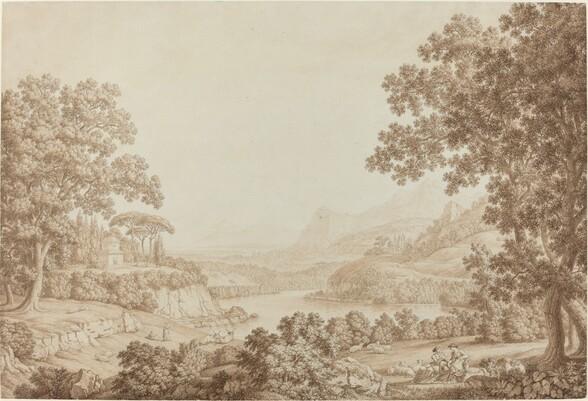 Arcadian Landscape with a Mausoleum