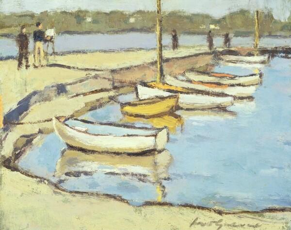 Artist on a Quay
