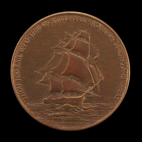 Franklin Delano Roosevelt Fourth Inaugural Medal: The Ship of State [reverse]
