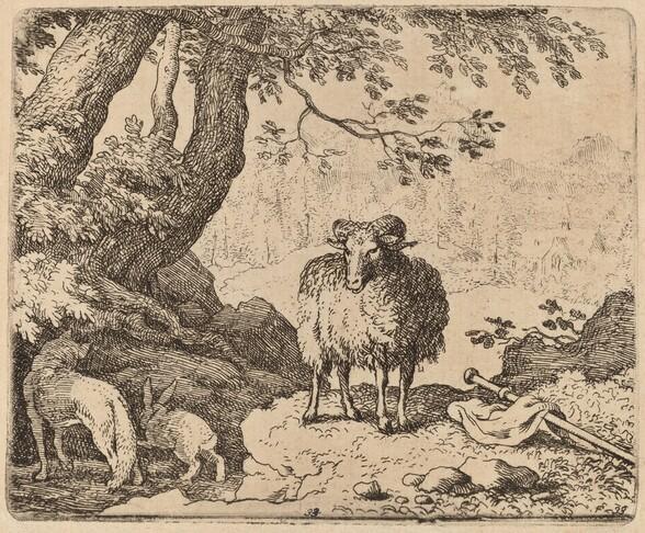 Reynard Returns Home, Accompanied by the Ram and the Rabbit