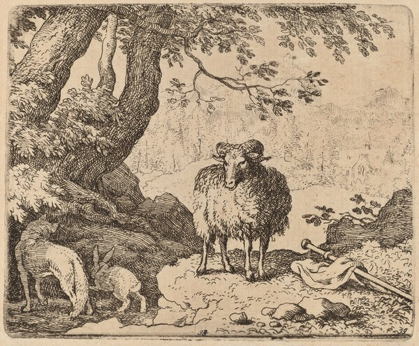 Reynard Returns Home, Accompanied by the Ram and the Rabbit
