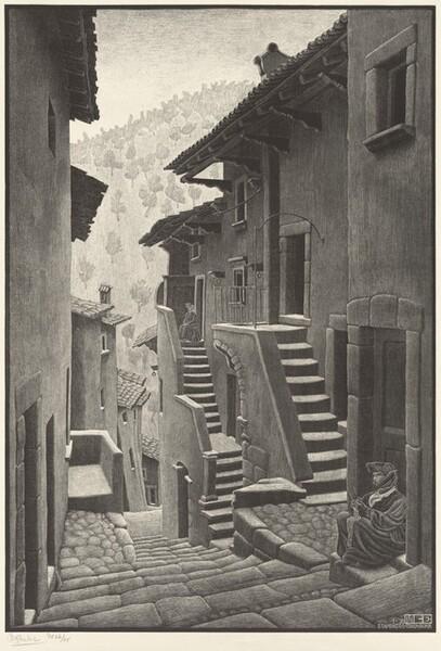 Street in Scanno, Abruzzi
