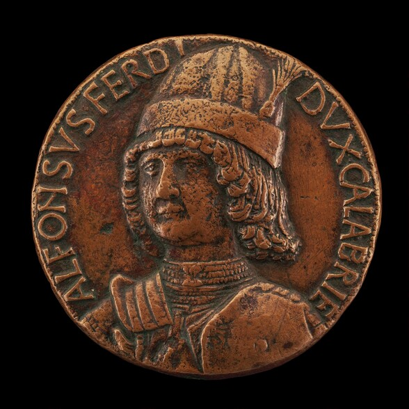Alfonso II of Aragon, 1448-1495, Duke of Calabria 1458, afterwards King of Naples 1494-1495 [obverse]