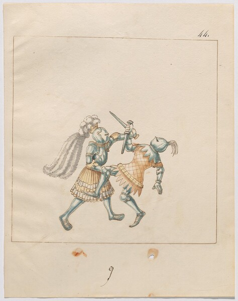 Freydal, The Book of Jousts and Tournament of Emperor Maximilian I: Combats on Foot (Jousts)(Volume III): Plate 170