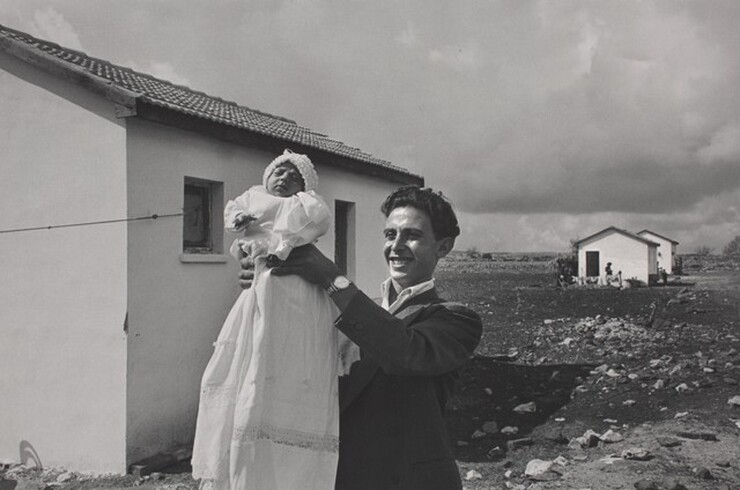 David Seymour (Chim), The First Child Born in the Italian Immigrant Settlement of Alma, Israel, 1951, printed 1982