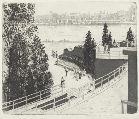 Across the Lagoon - Century of Progress Exposition, Chicago, 1933