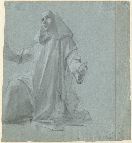 A Young Priest Kneeling
