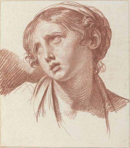 A Young Girl Looking Upward