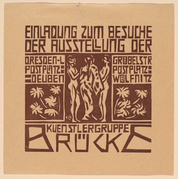 Einladung...Ausstellung der Kuenstlergruppe Brücke (Invitation to an Exhibition of the Artists