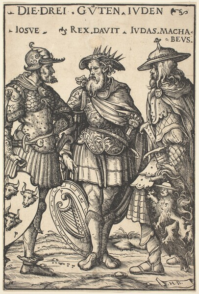 Joshua, David and Judas Maccabaeus