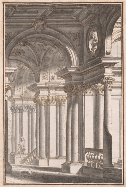 Architectural Capriccio with a Soldier and Dog